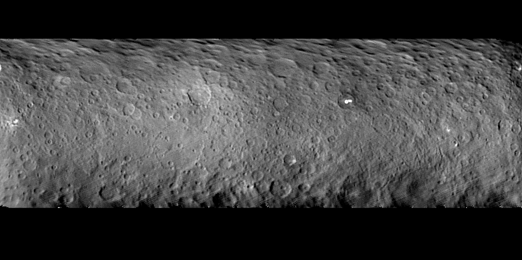 Cratered Surface of Ceres