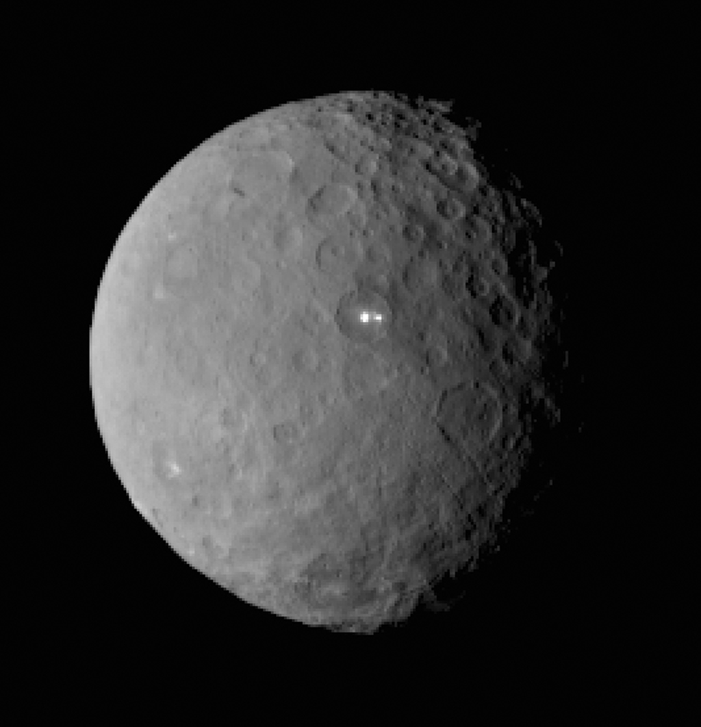 Bright Spot on Ceres Has Dimmer Companion