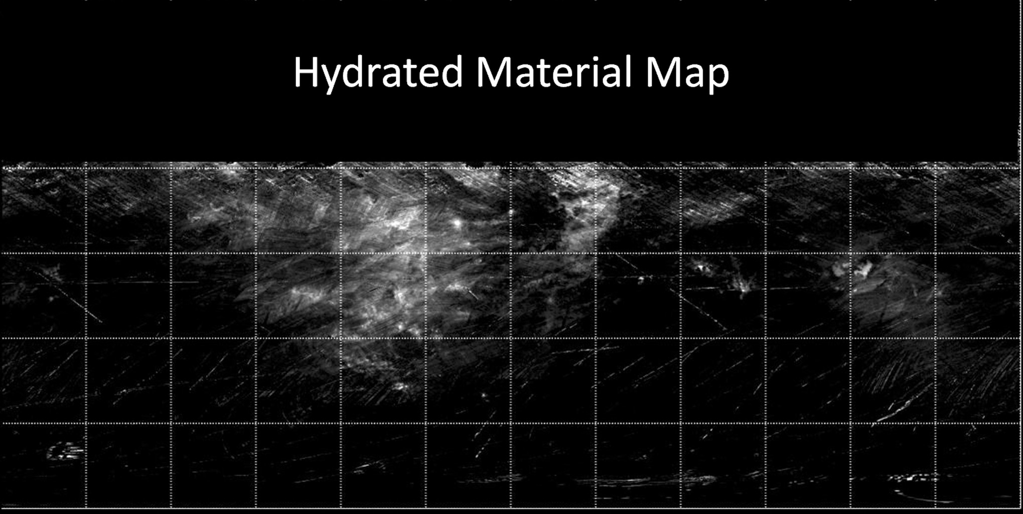 Map of Hydrated Minerals on Vesta