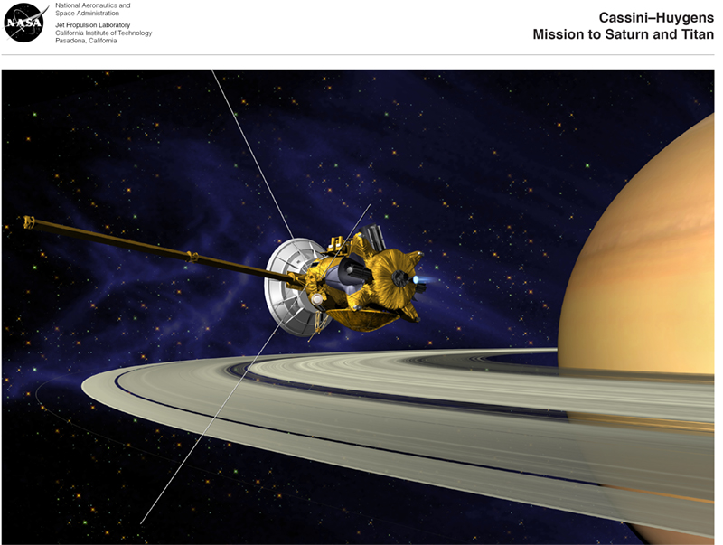 Cassini-Huygens Mission to Saturn and Titan lithograph