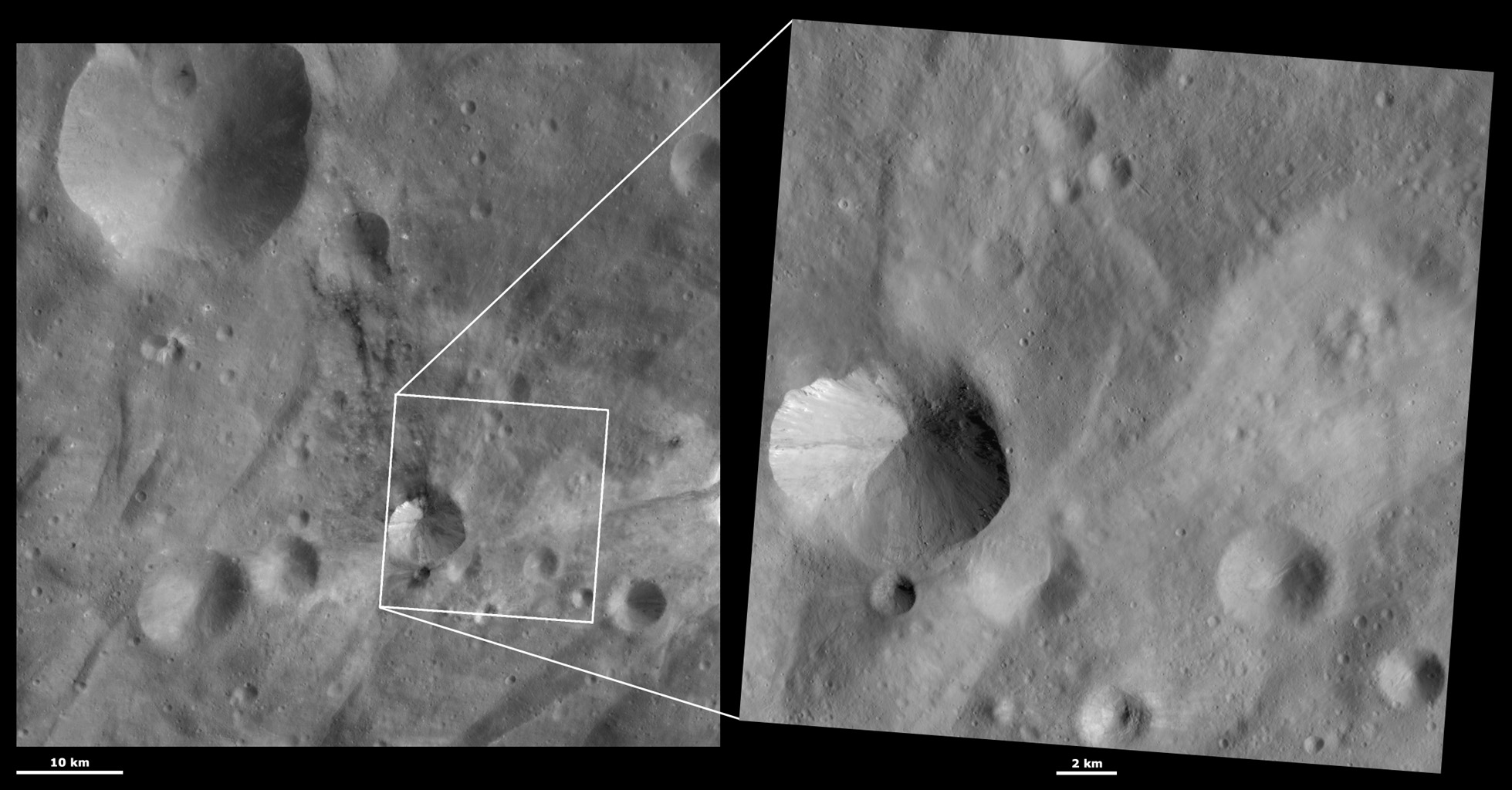 HAMO and LAMO Images of Sossia Crater