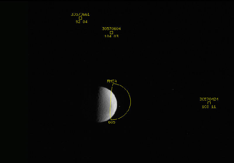Optical Navigation image of Rhea