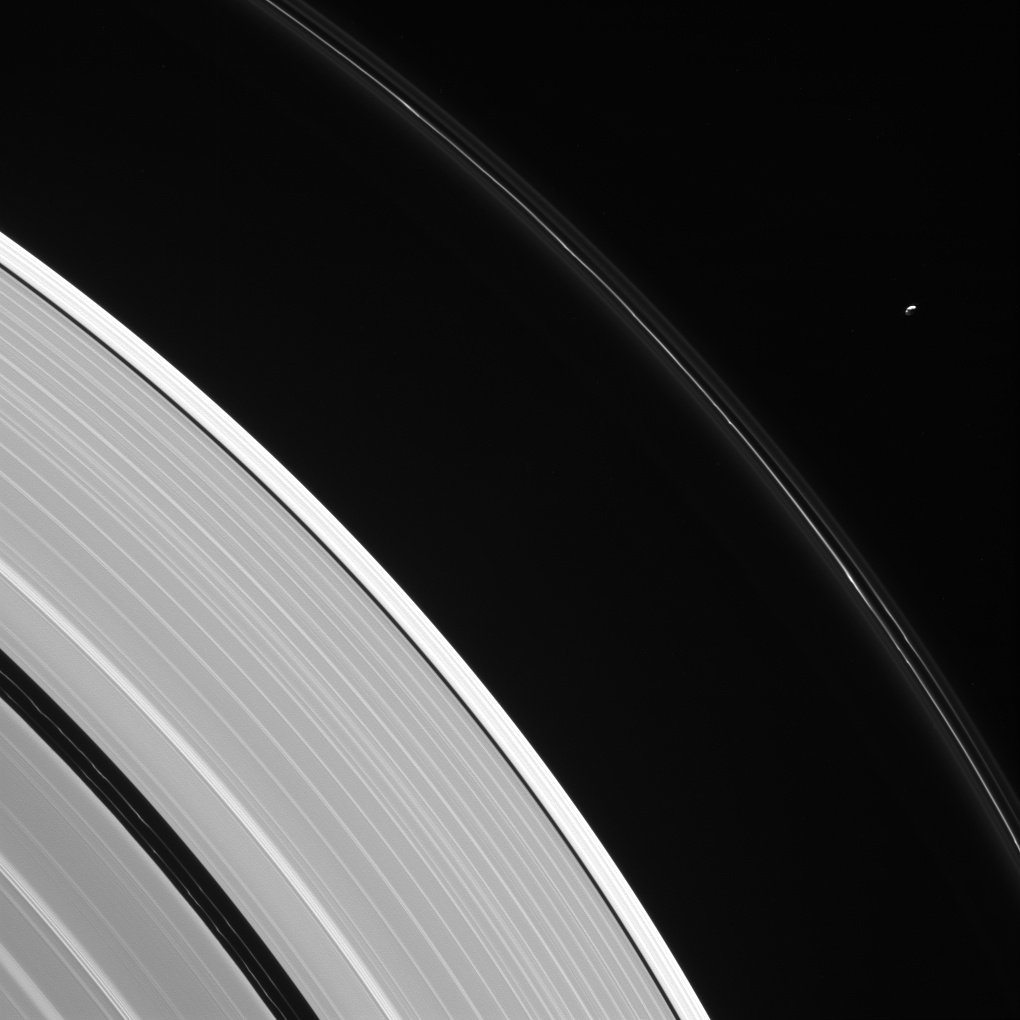 Pandora and Saturn's rings