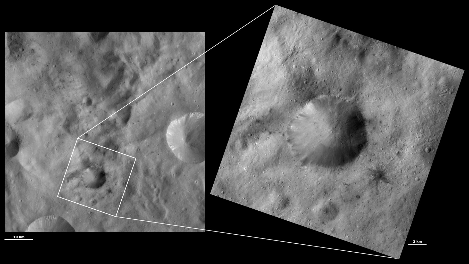 HAMO and LAMO Images of Laelia Crater