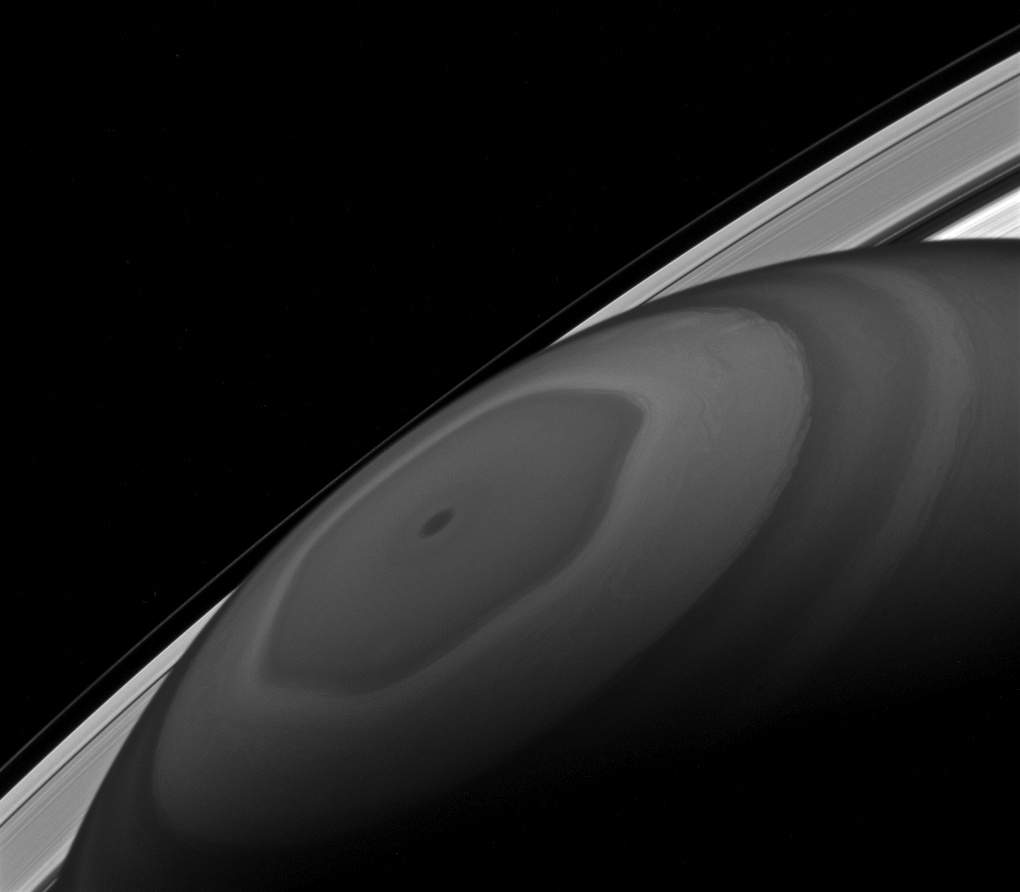 The north pole of Saturn