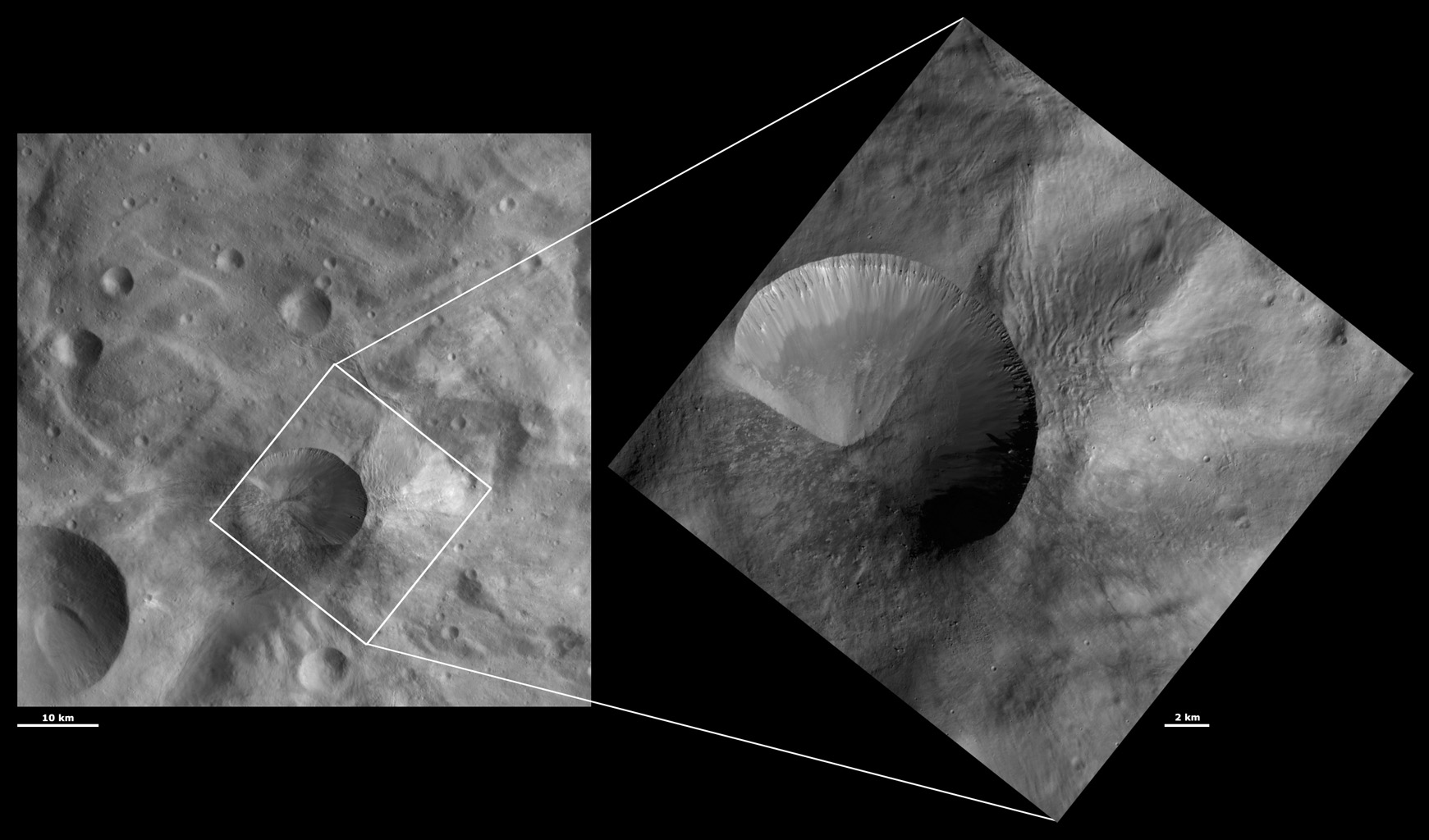 HAMO and LAMO Images of Antonia Crater