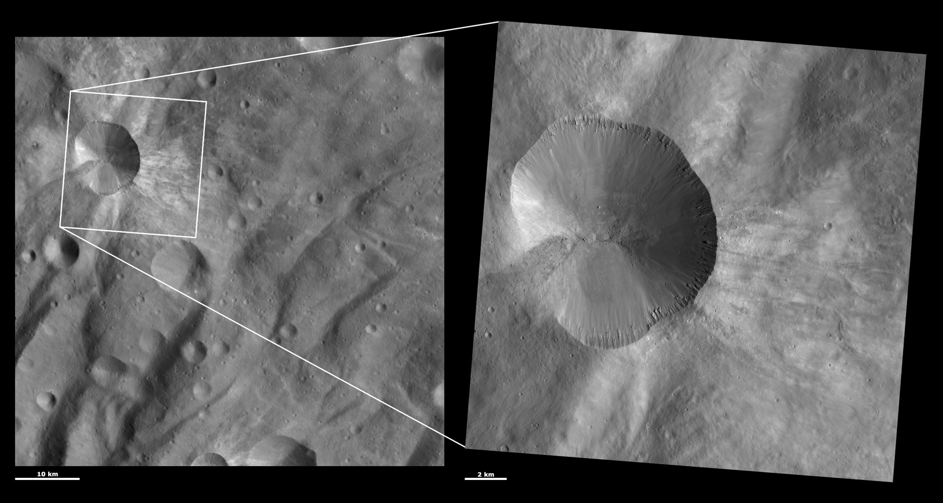 HAMO and LAMO Images of Canuleia Crater