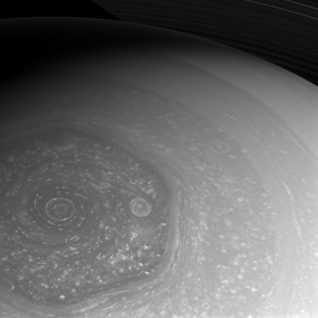 Summer is slowly coming to Saturn's northern hemisphere.