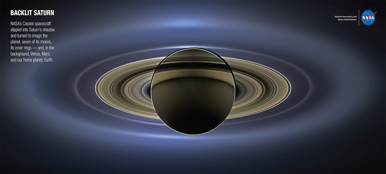 Saturn Backdrop | NASA Solar System Exploration View Of The Sun From Saturn