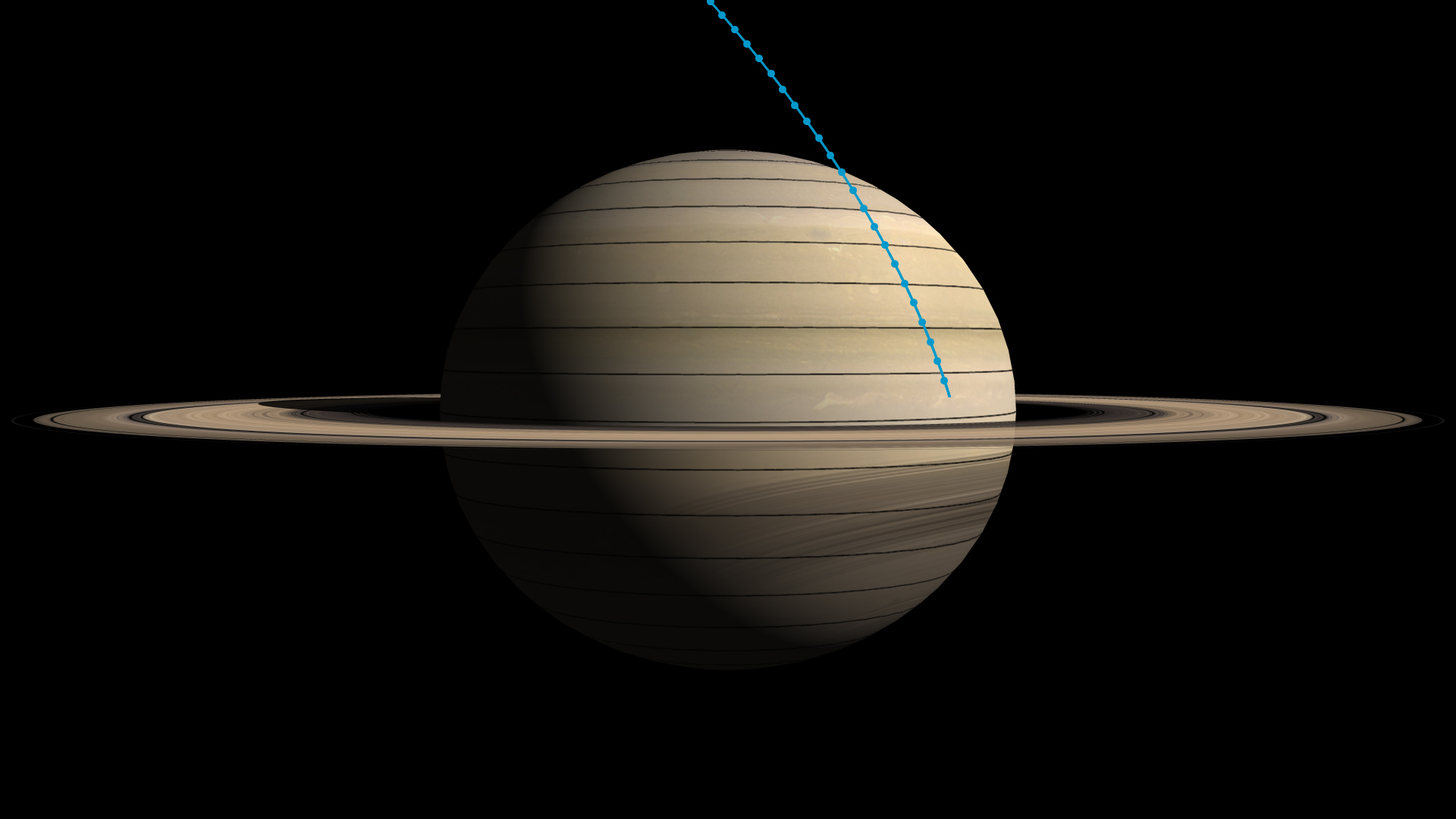 Cassini final plunge graphic