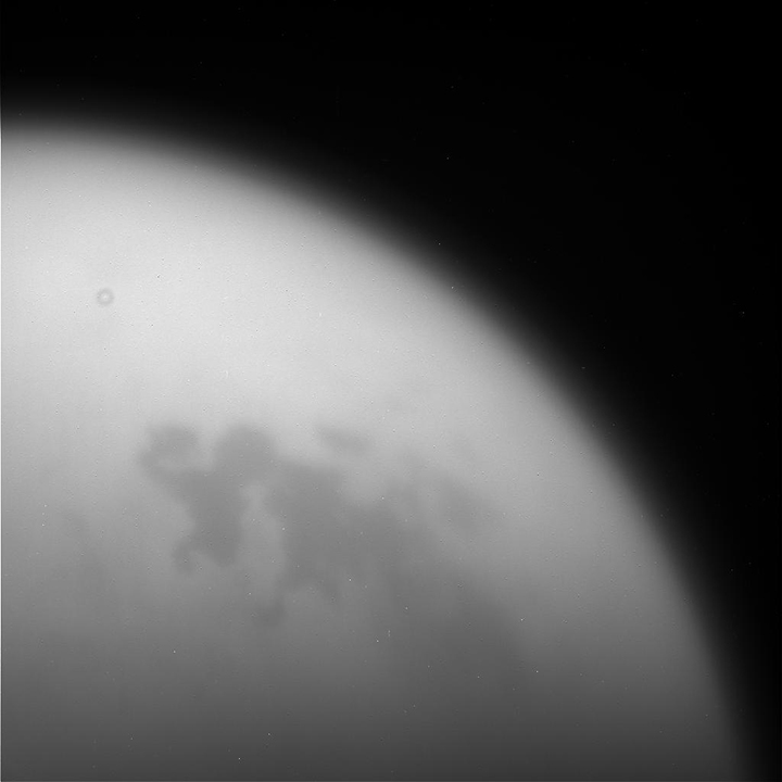 Unprocessed image of Titan