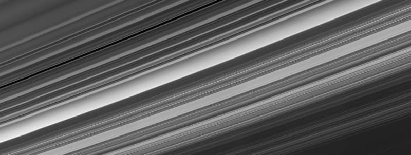 A panoramic view of Saturn's rings
