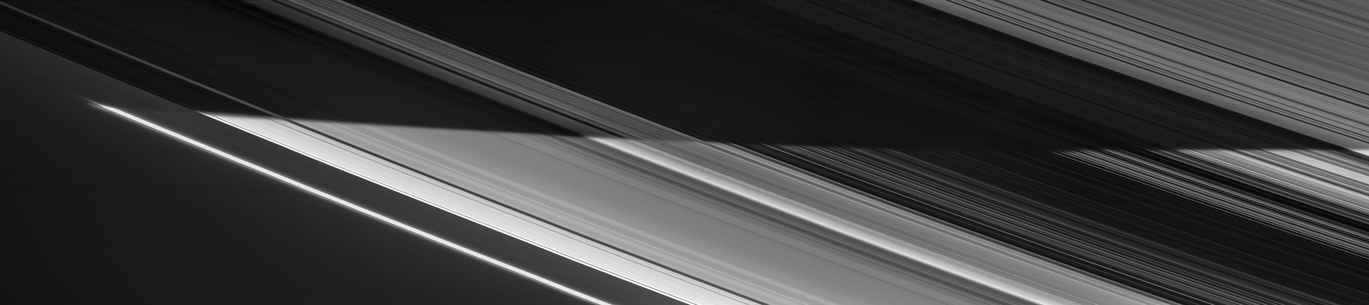 A four-image mosaic of Saturn's rings