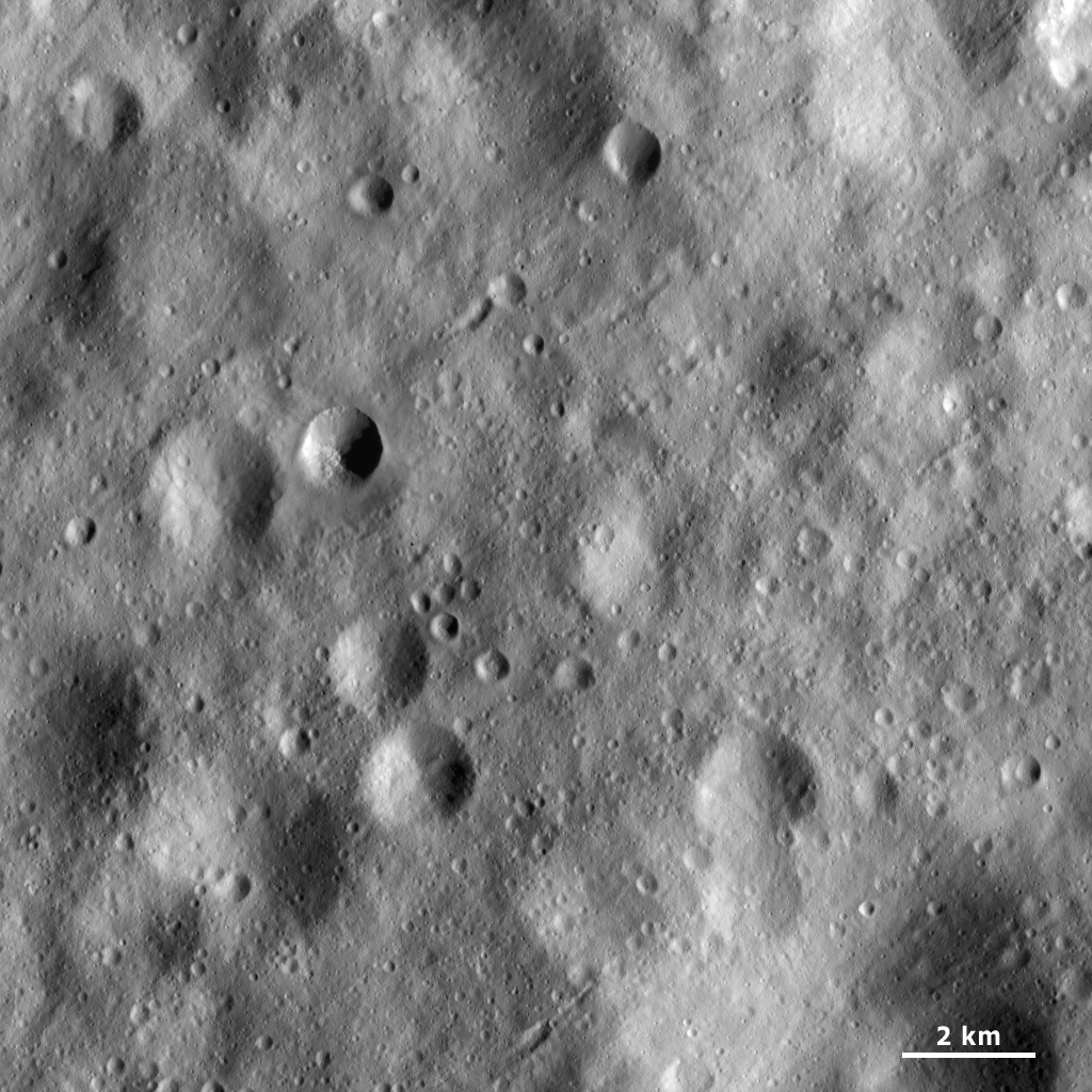 Surface Covered with Regolith and Craters