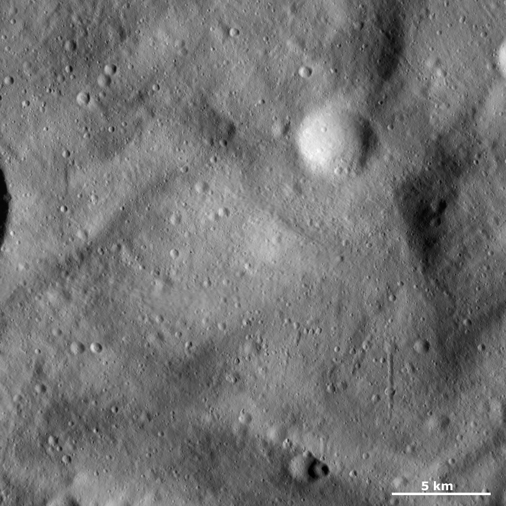 Undulating Surface and Secondary Crater Chains