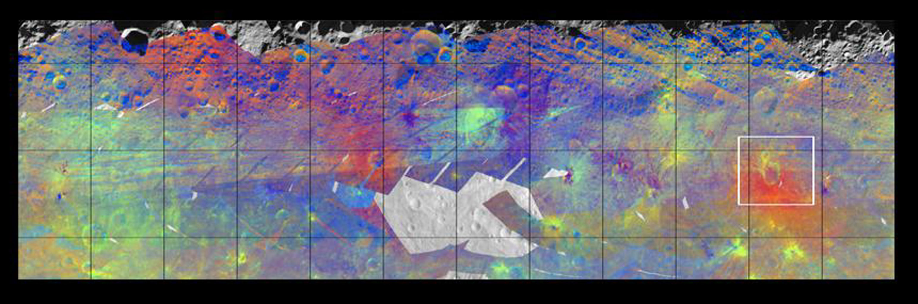 Colorized Infrared View of Vesta