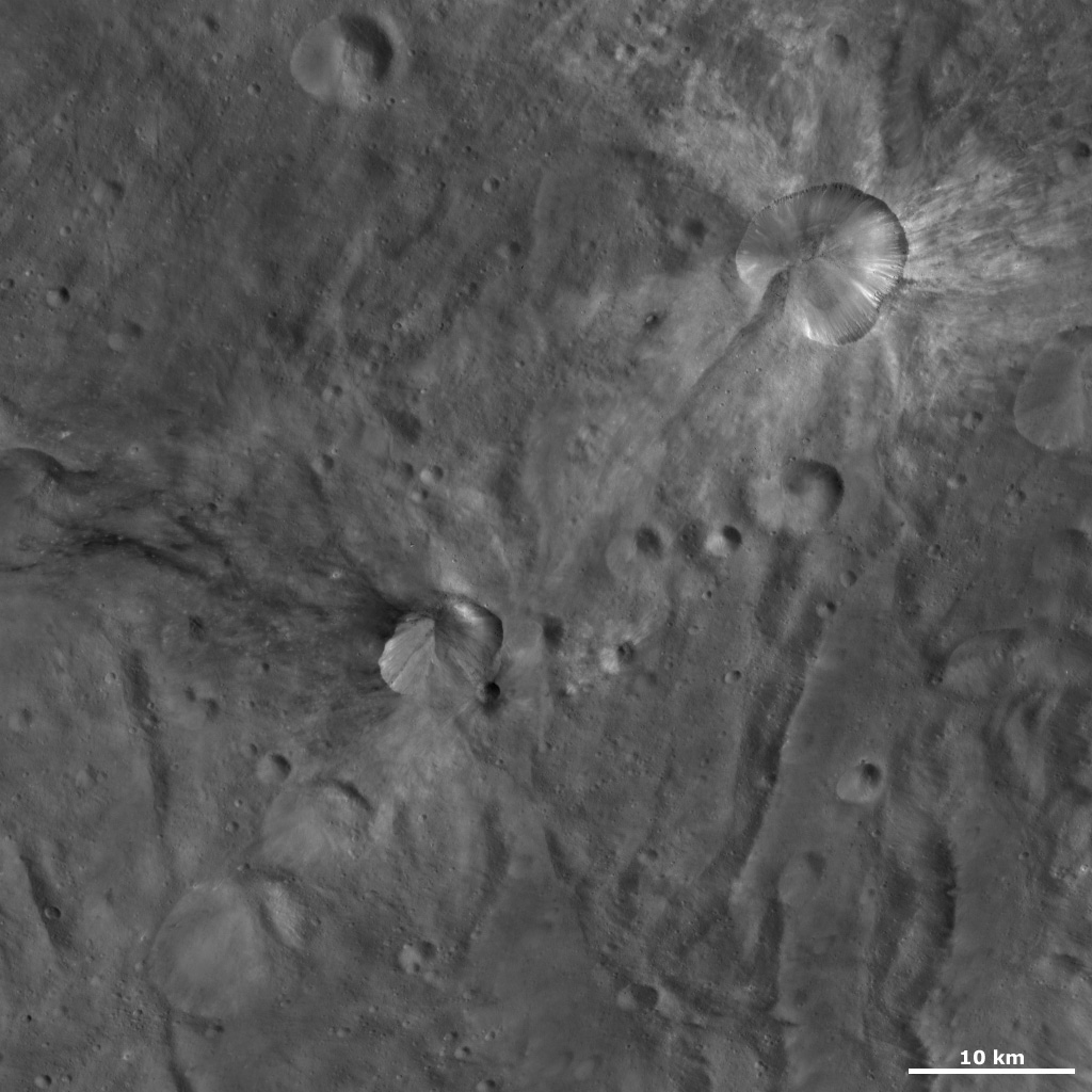 Canuleia and Sossia Craters