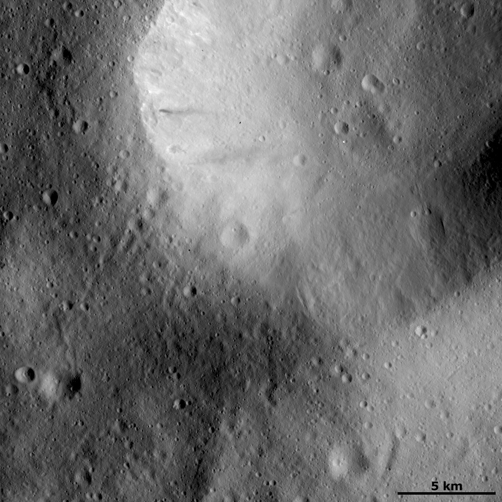 Impact Crater with Smoothed Rim