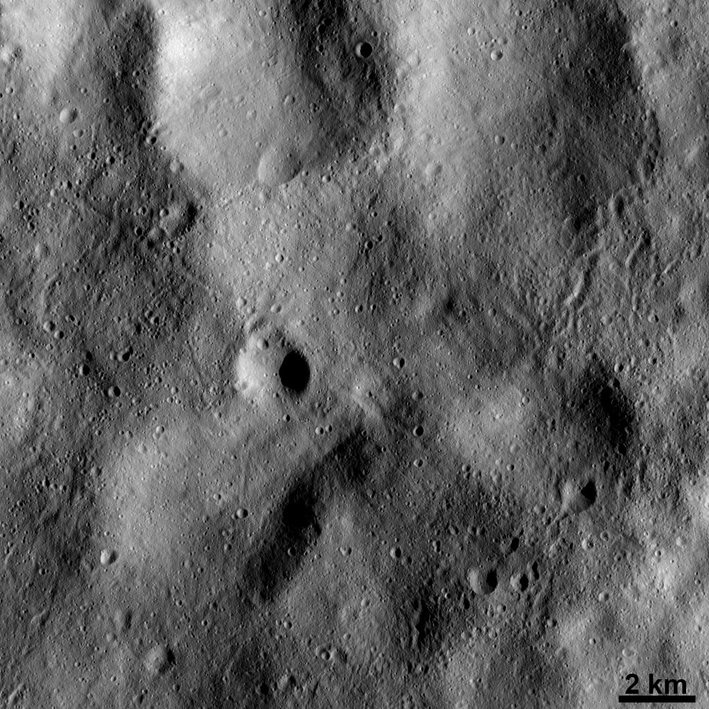Markings of Ejected Material on Vesta's Surface