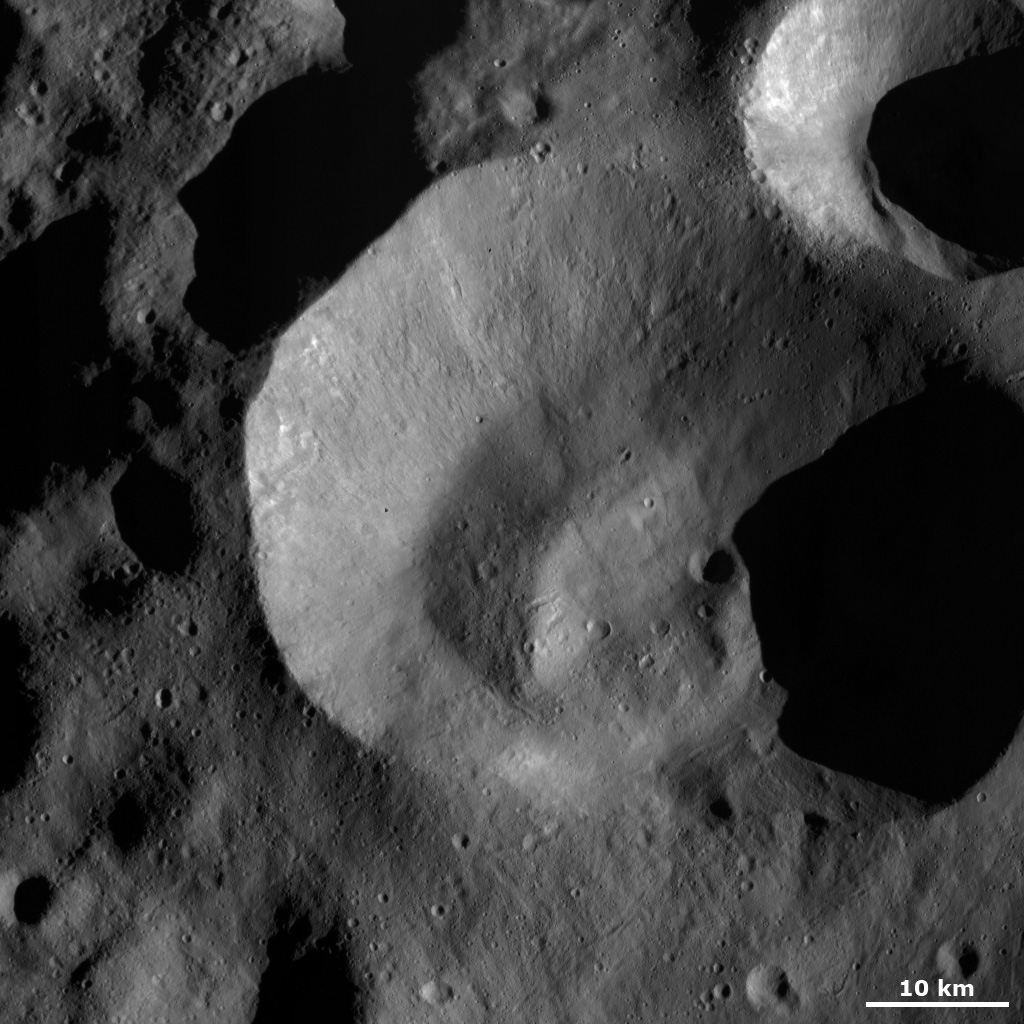 Impact Crater with Unusual Rim