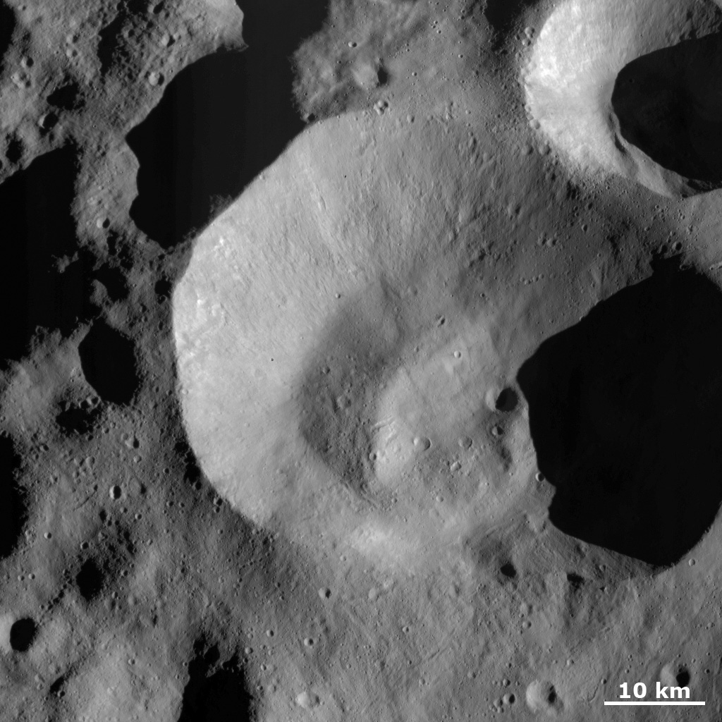 Caparronia Crater Covered with Ejecta and Small, Secondary Craters