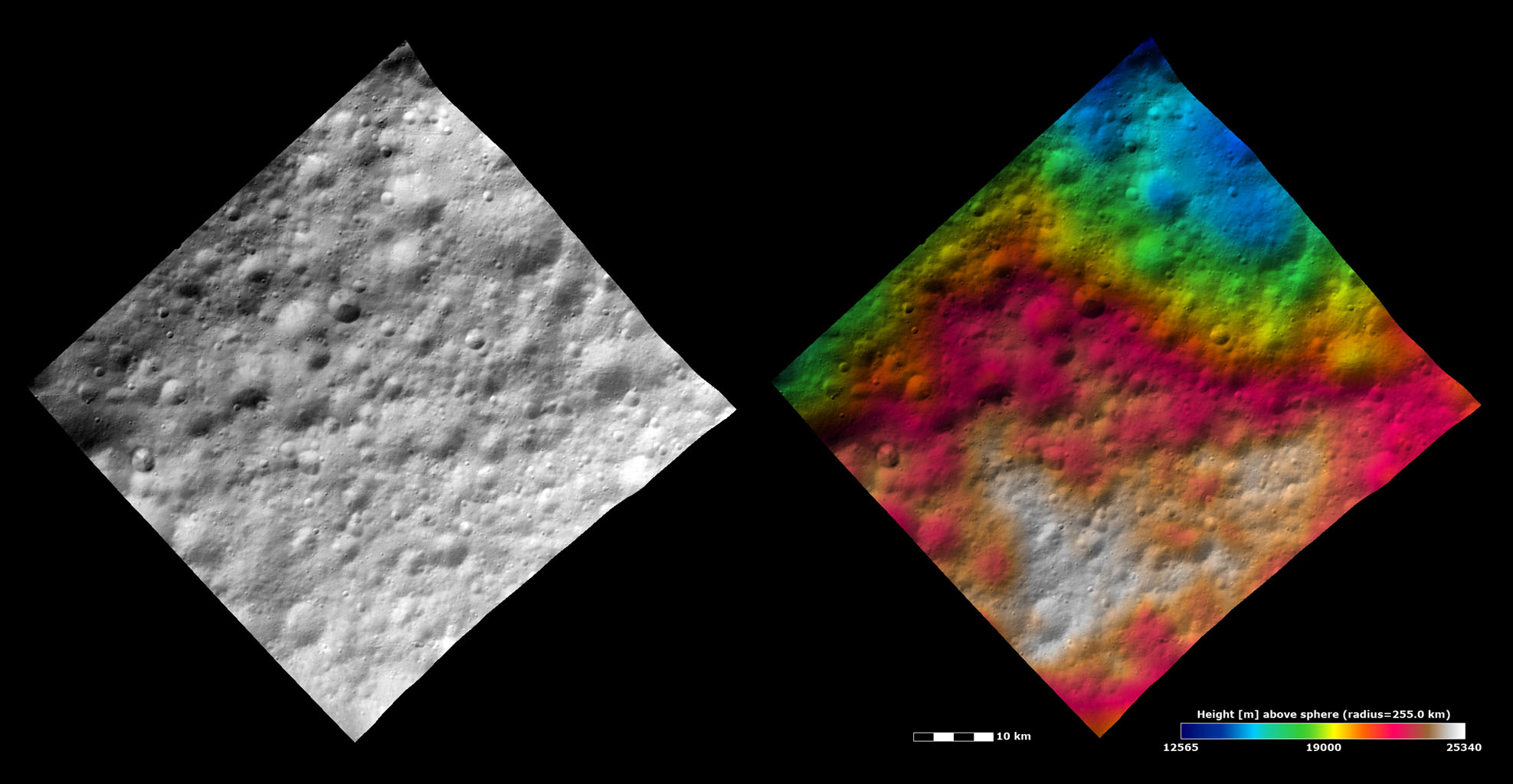 Topography and Albedo Image of Part of Lucaria Tholus Quadrangle