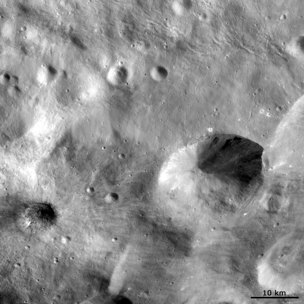 Features on Vesta's Regolith