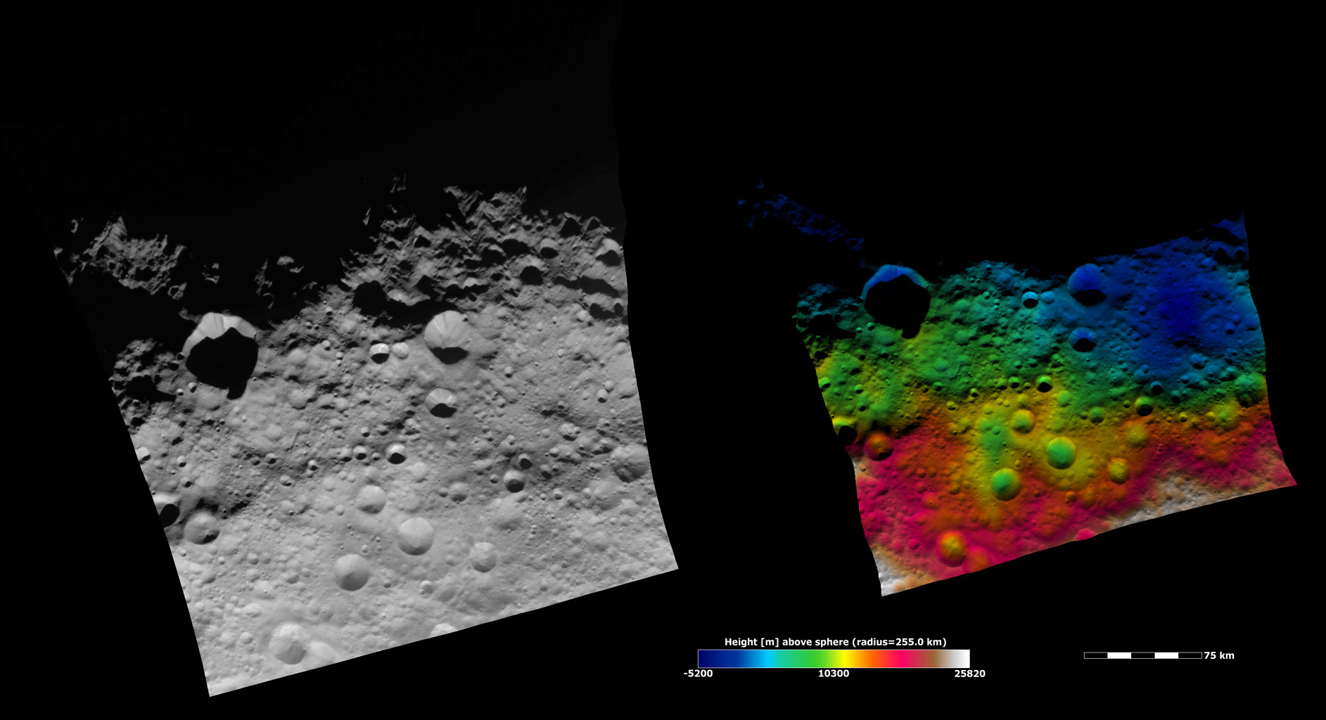 Topography of Vesta's Equatorial Region II