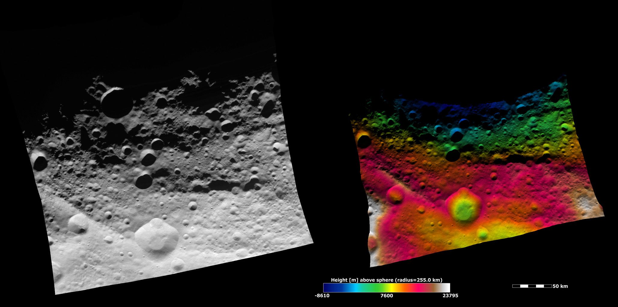 Topography of Vesta's Equatorial Region I