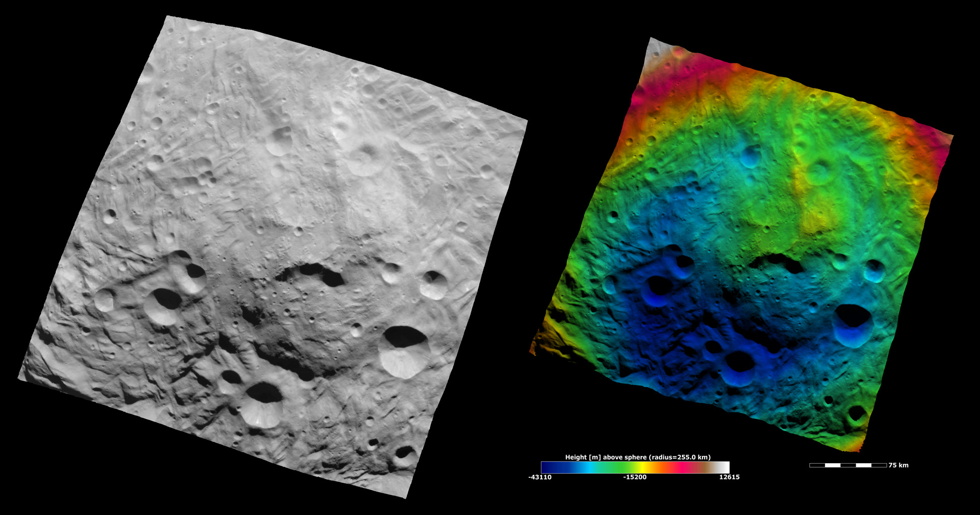 Topography of Vesta's South Polar Region III