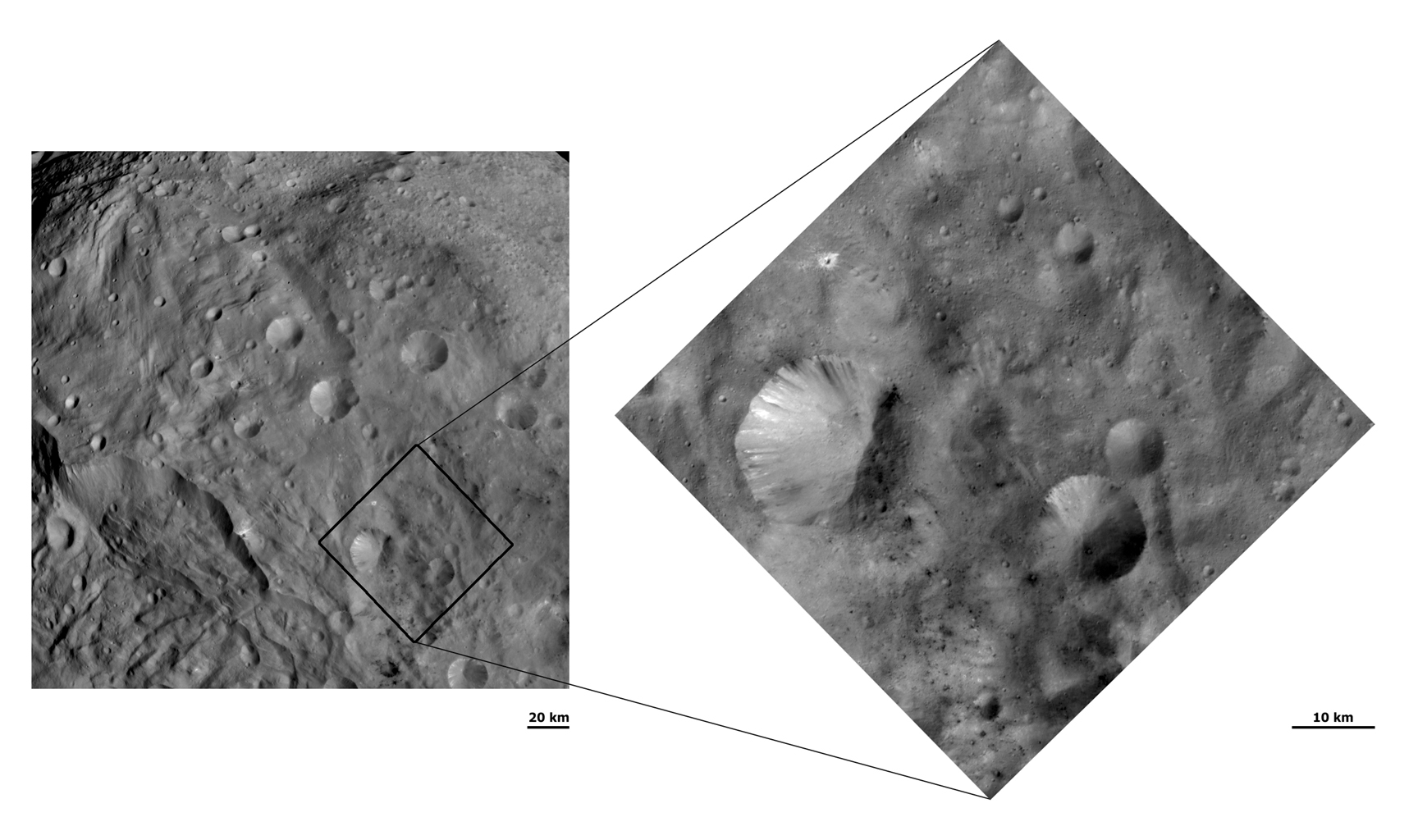 Unusual Craters on Vesta III