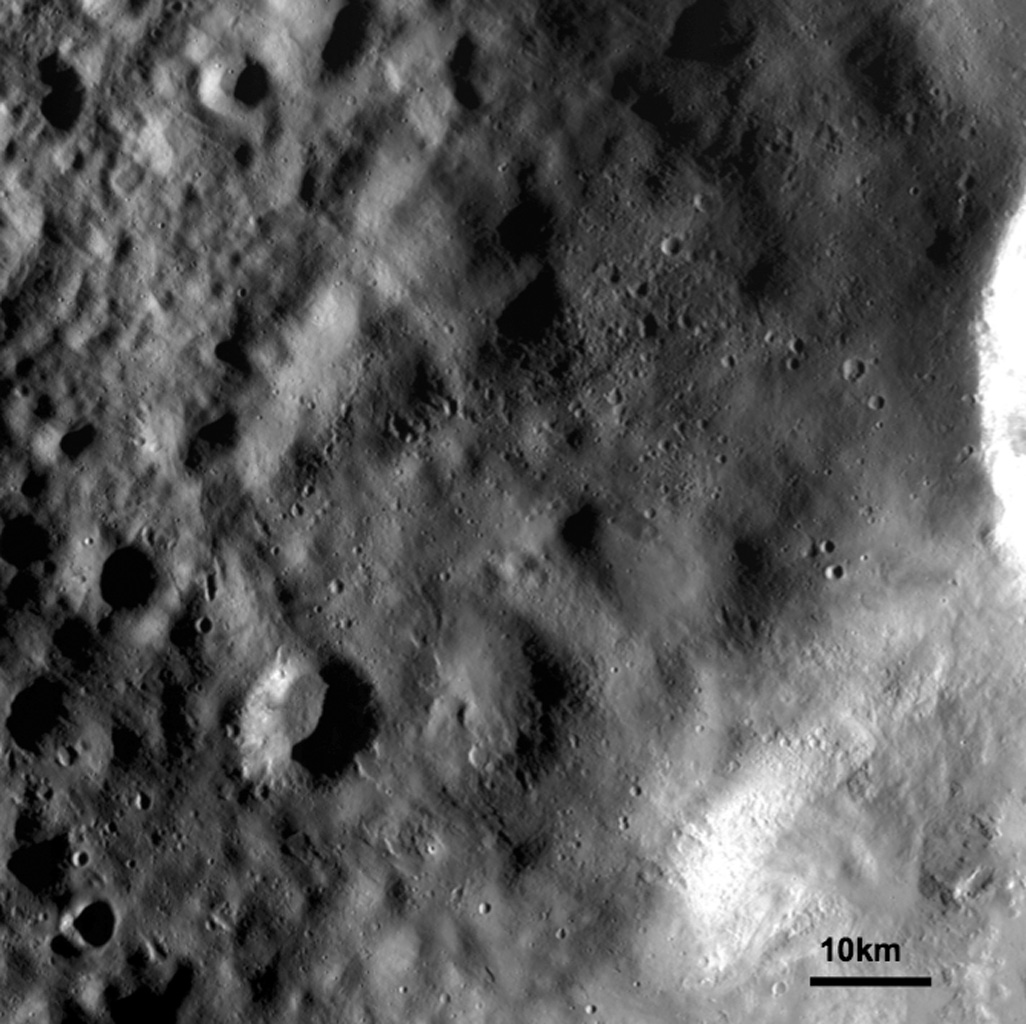 Ejecta Blanket on Vesta