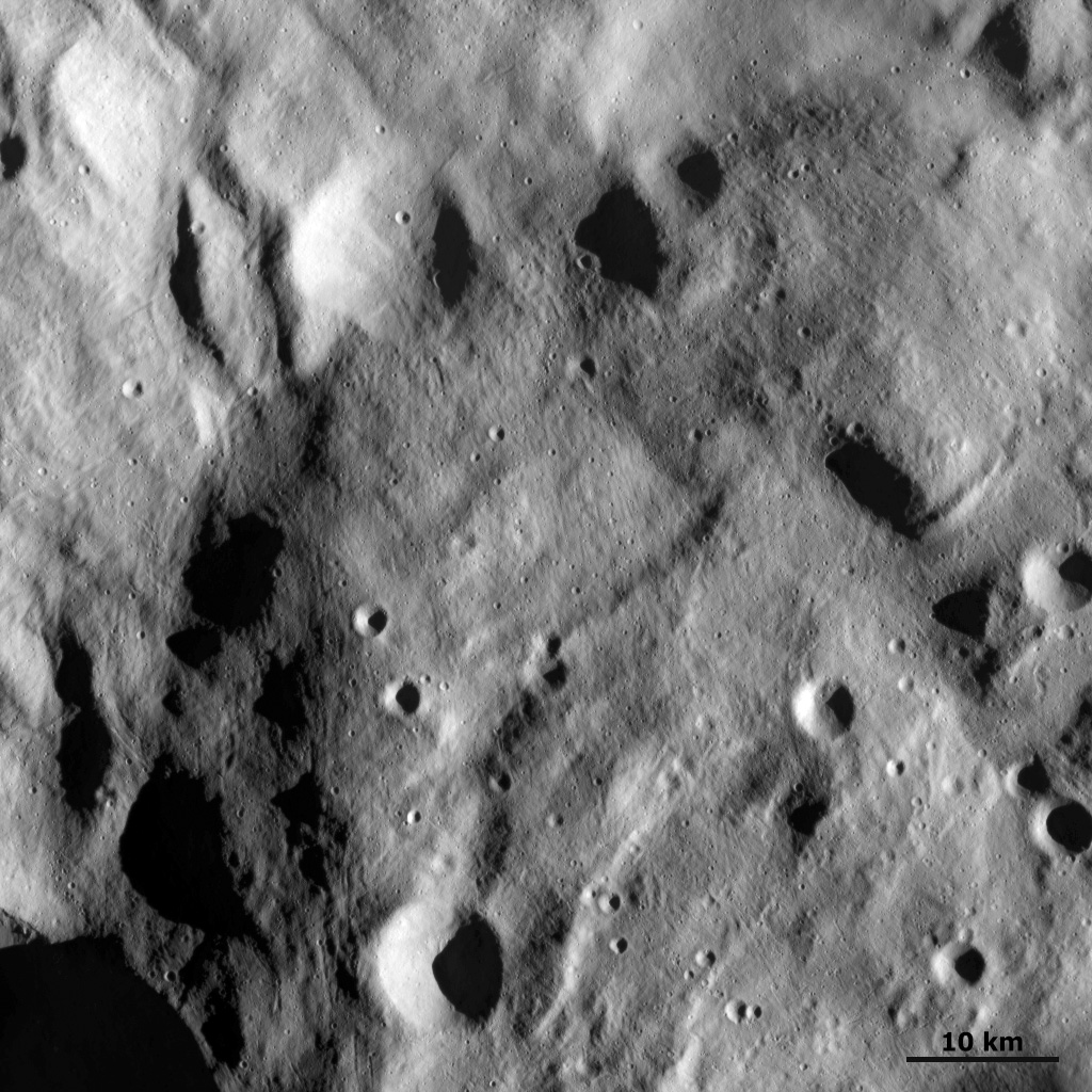 Small Scale Features at Vesta's South Pole