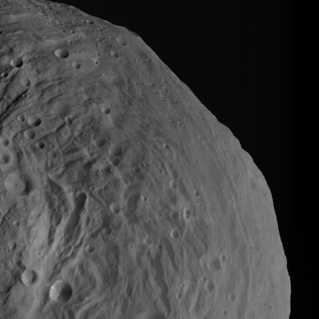 Mountains Rising Over Vesta's Equatorial Region