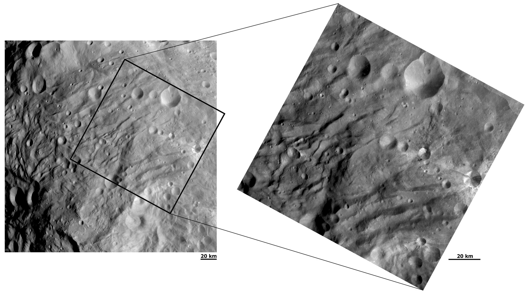 Closing in on the Wrinkles and Grooves at Vesta's South Pole
