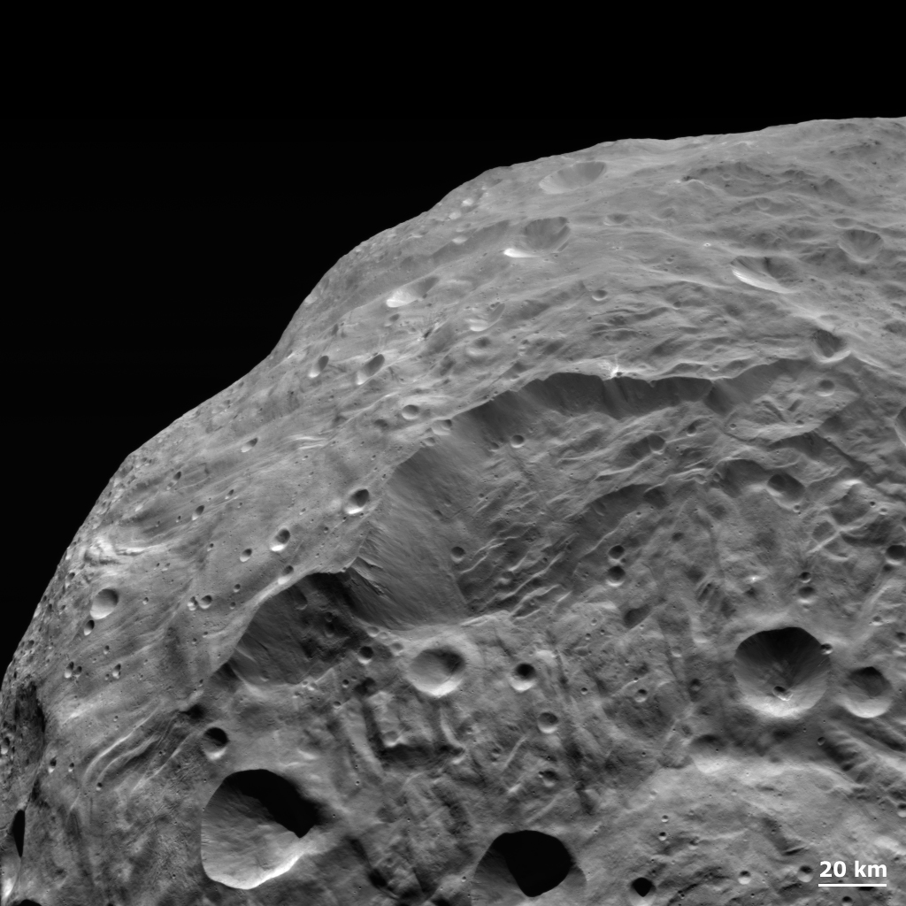Landslides on Vesta