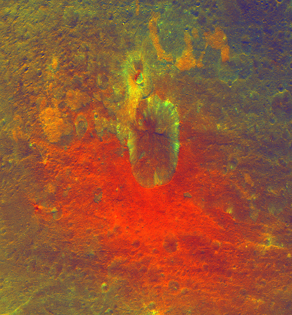 False-Color Image Shows Proof of an Impact