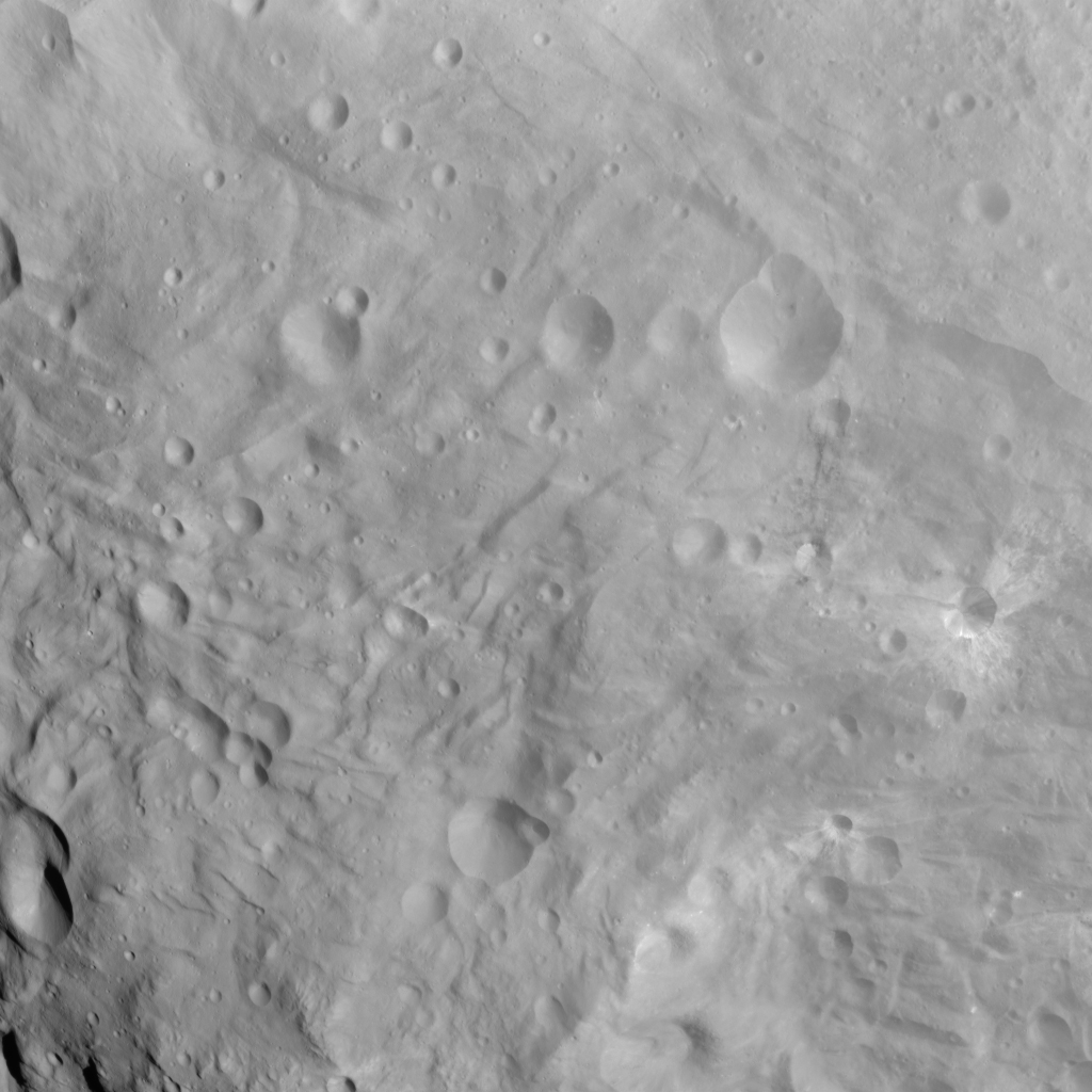 Craters and Grooves in the South Polar Region