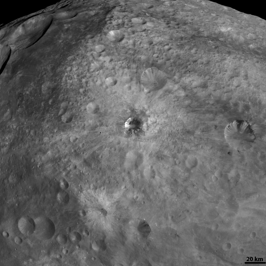 The Various Craters on Vesta