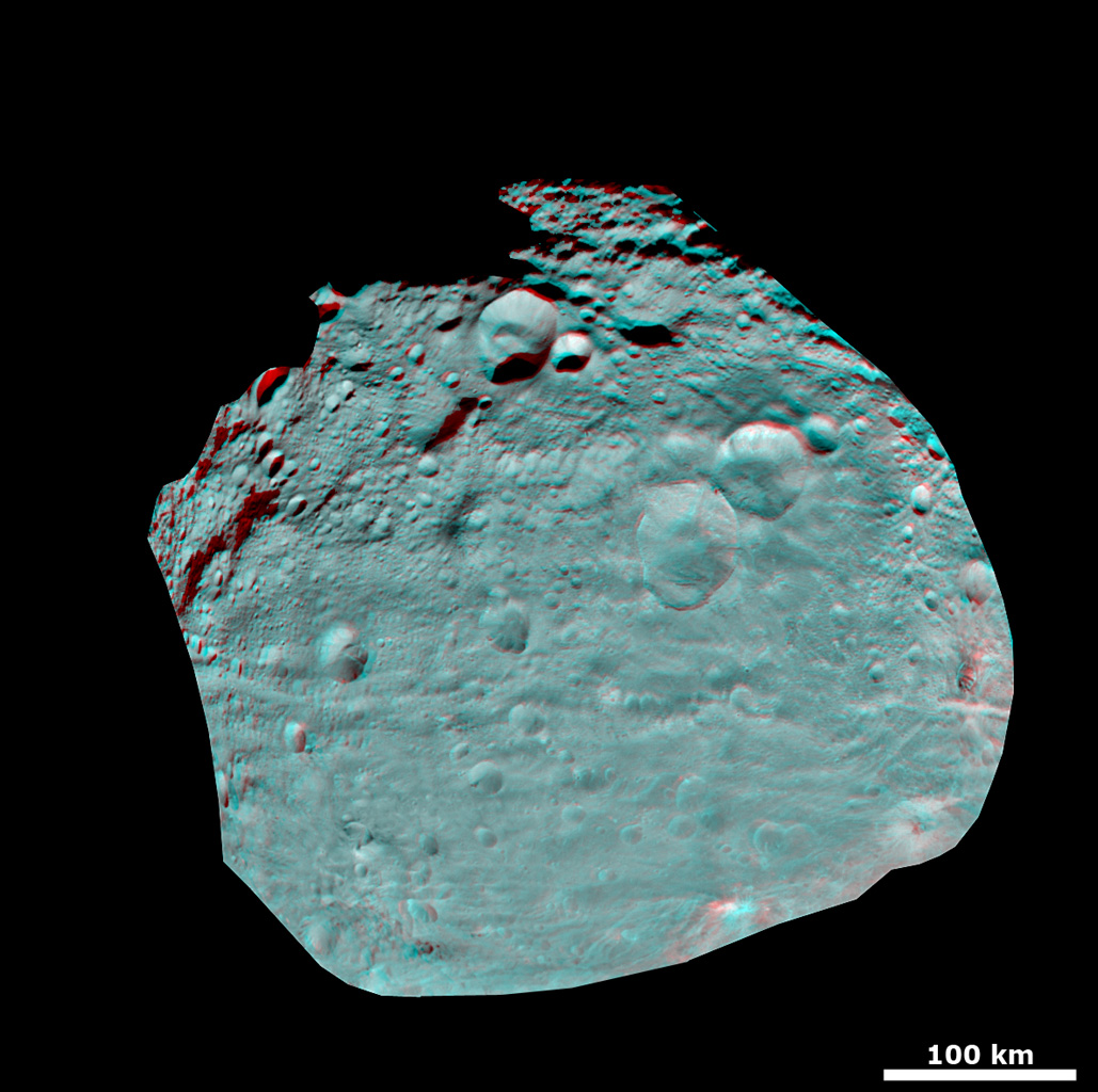 3-D Image of Vesta's Equatorial Region