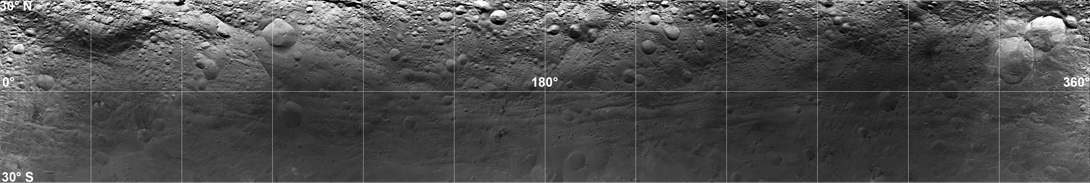 Mosaic Image of Vesta's Surface