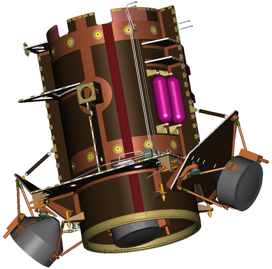 Illustration of Dawn Spacecraft Core Structure