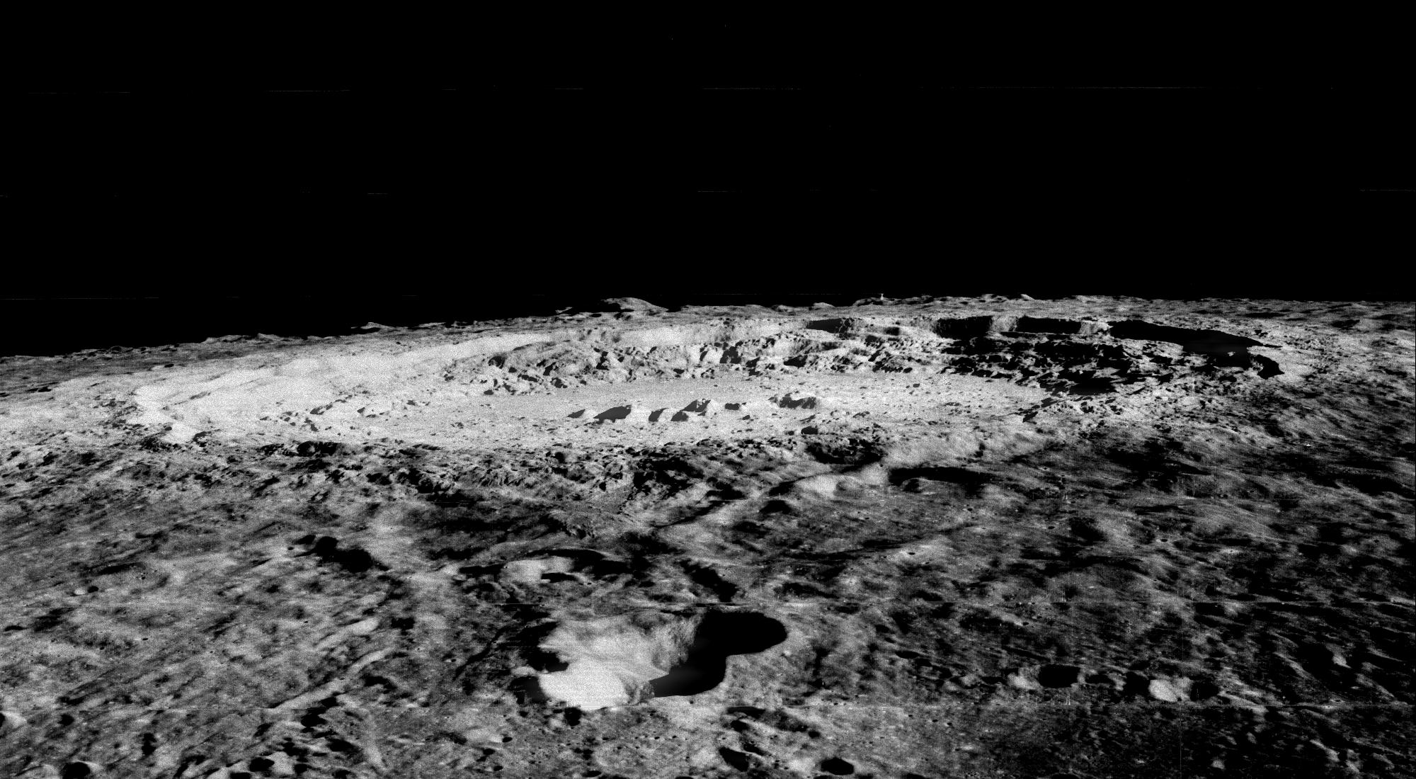 Copernicus is 93 km wide and is located within the Mare Imbrium Basin, northern nearside of the Moon (10 degrees N. 20 degrees W.).