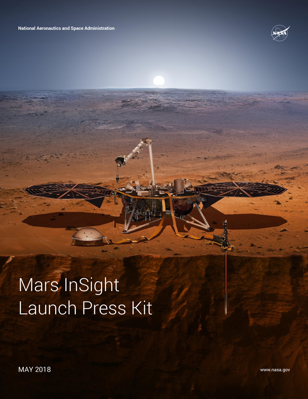 PDF download of InSight mission facts.