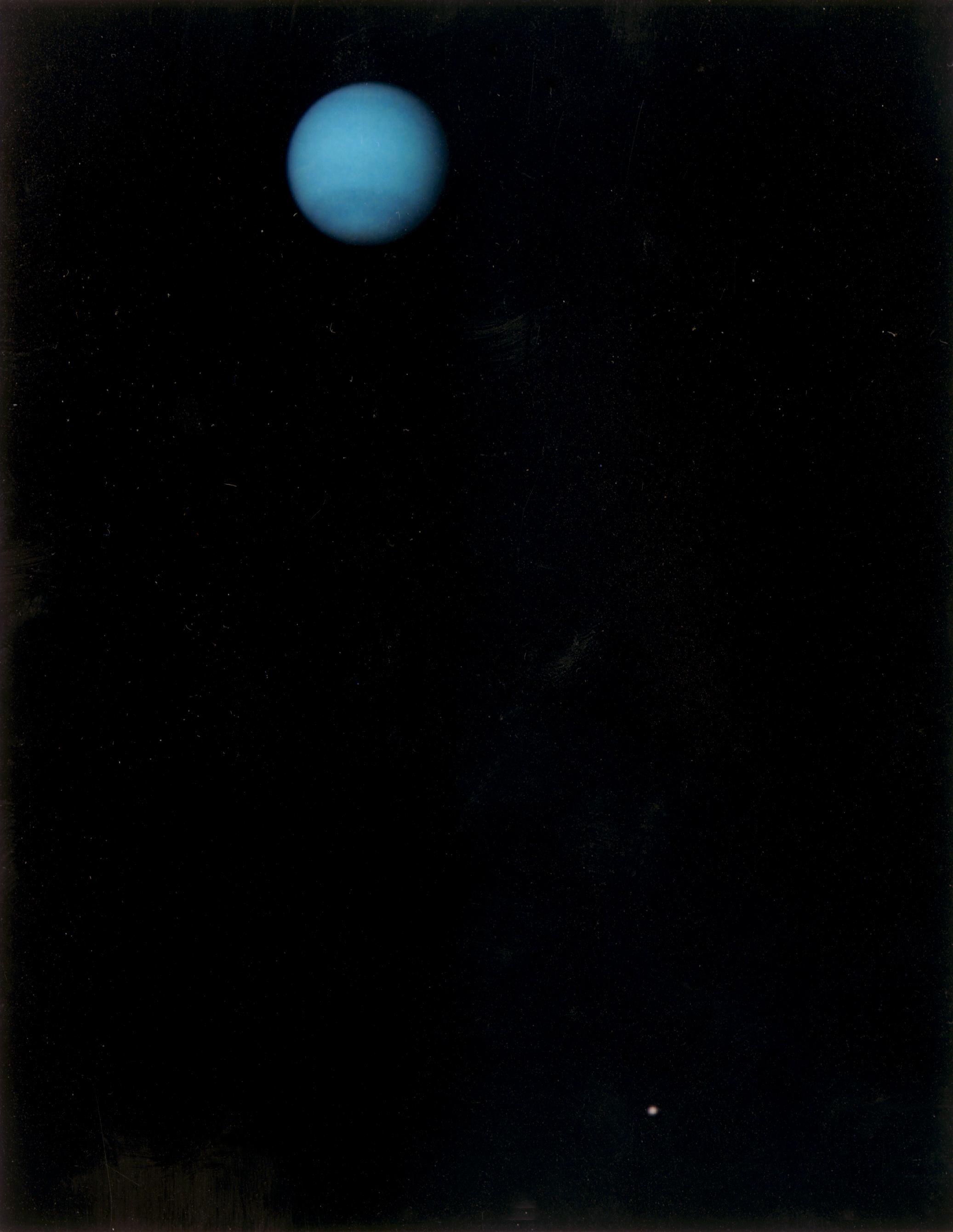 This image was returned by the Voyager 2 spacecraft on July 3, 1989, when it was 76 million kilometers (47 million miles) from Neptune.