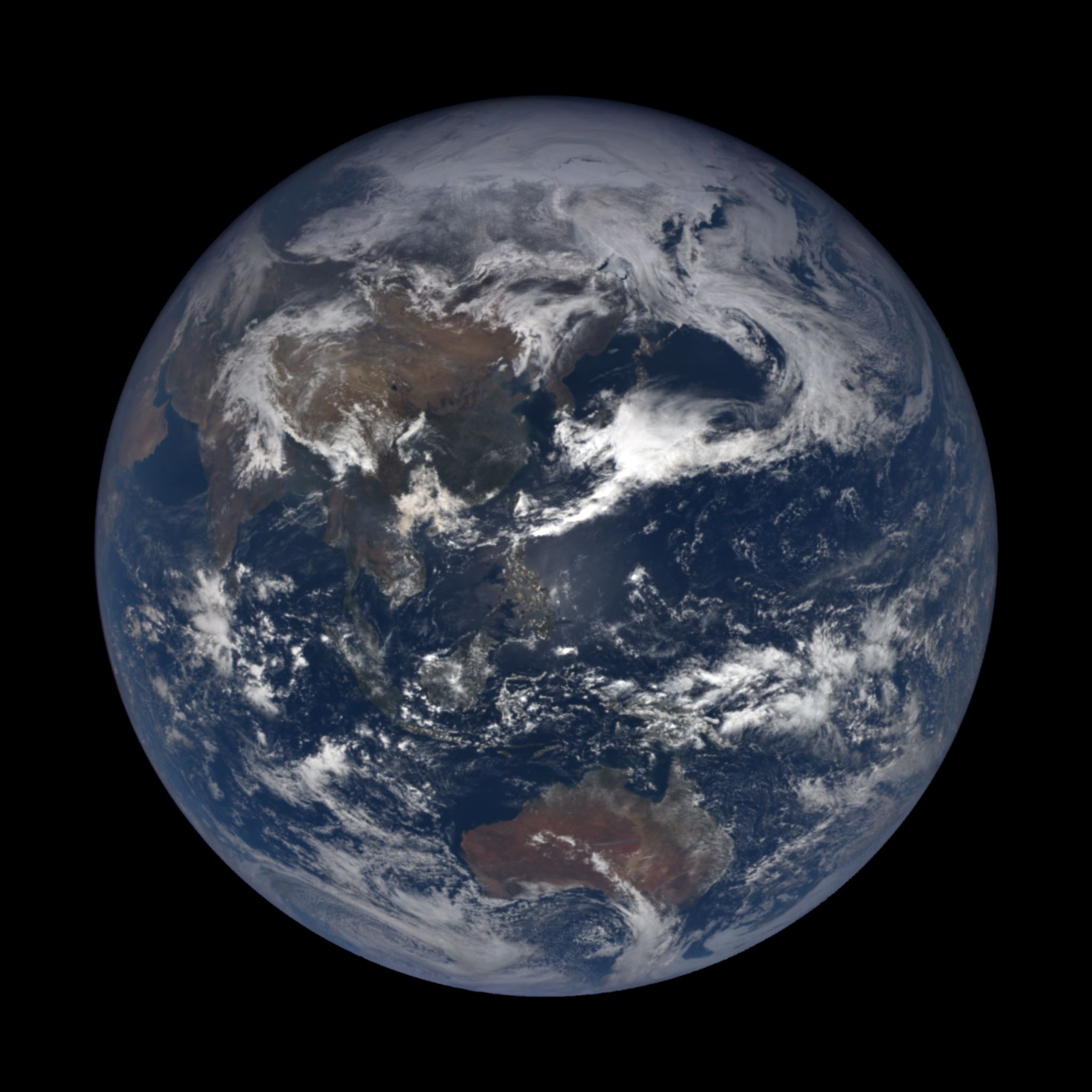 full earth with Asia visible