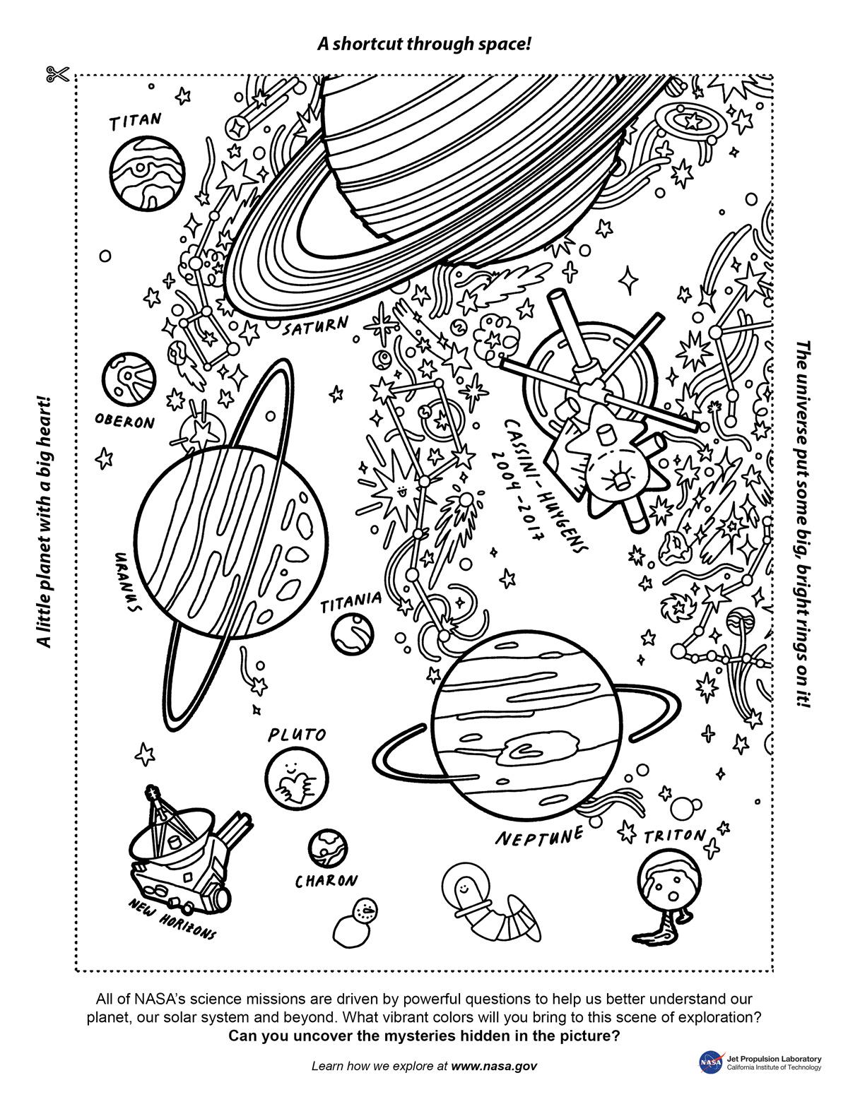 Color Your Universe Week 3 Nasa Solar System Exploration