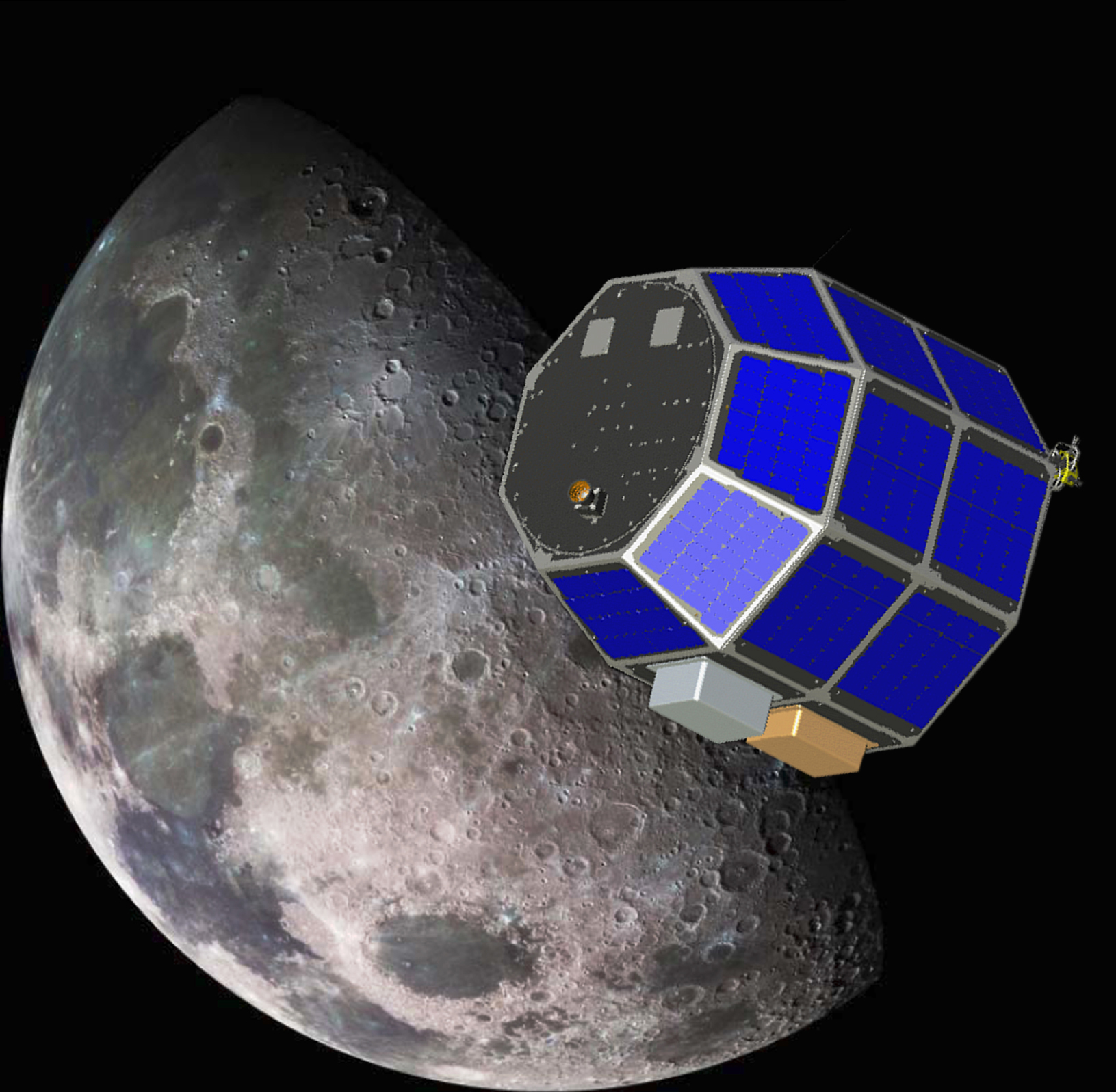 The Lunar Atmosphere and Dust Environment Explorer (LADEE) is designed to study the Moon's thin exosphere and the lunar dust environment.