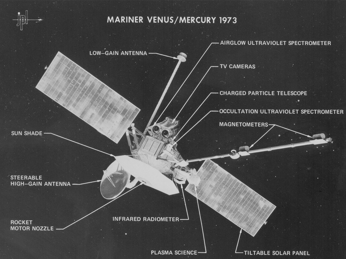 On 3 November 1973, the Mariner Venus/Mercury 1973 spacecraft -- also known as Mariner 10 -- was launched from Kennedy Space Center.