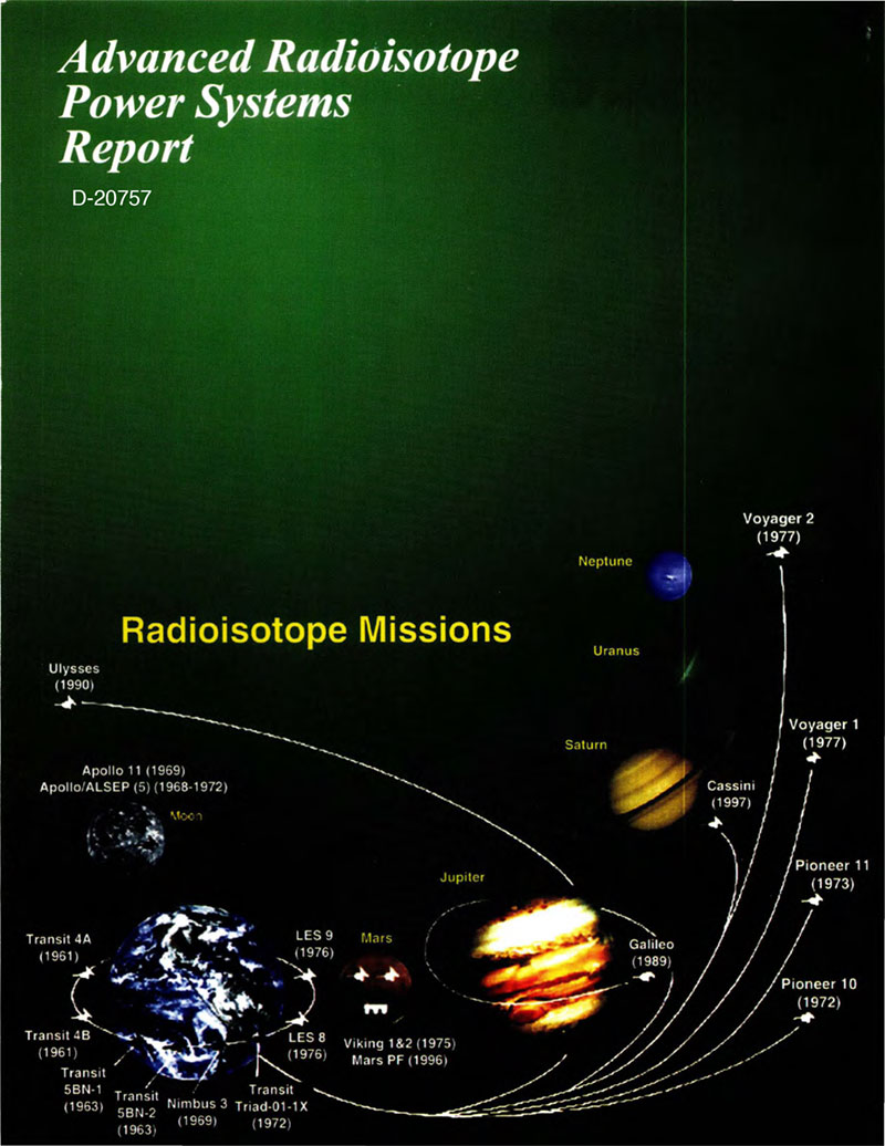 This summary report is the result of reviewing the power requirements for future NASA science missions and providing a technical assessment of the radioisotope power conversion technologies being considered for these future NASA missions.